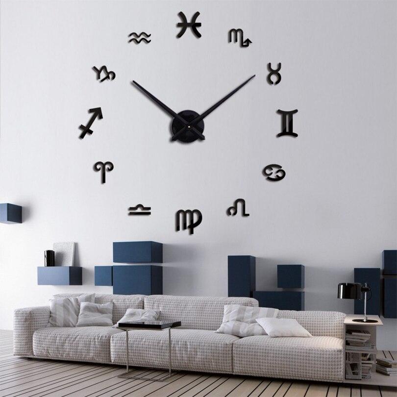프로모션 2020 새로운 돌진 3d 큰 디지털 벽 시계 현대 디자인 큰 장식 디자이너 거울 시계 벽 시계 스티커