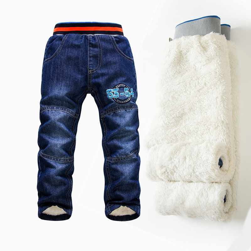 Mädchen Kleidung Dk0114 Neuheiten K K Kaninchen Winter Warme Jungen Jeans Kinder Hosen Dicke Jeans Für Mädchen Jungen Kinder Hosen Einzelhandel Der Preis Bleibt Stabil Jeans