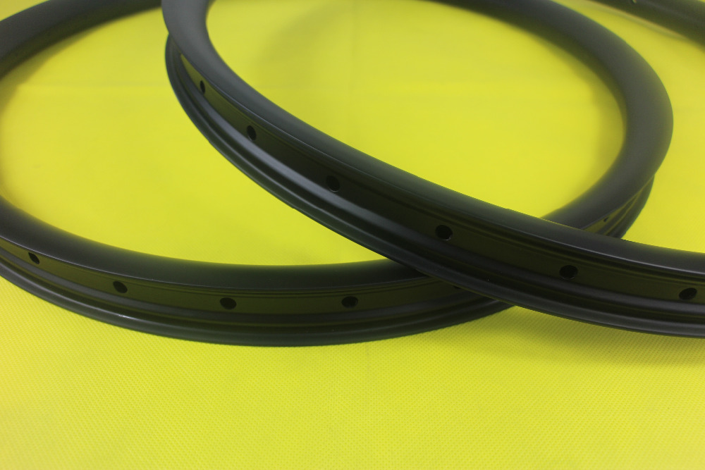 27 5er MTB downhill tubeless carbon rims 40mm width 30mm depth hookless clincher UD matte 36