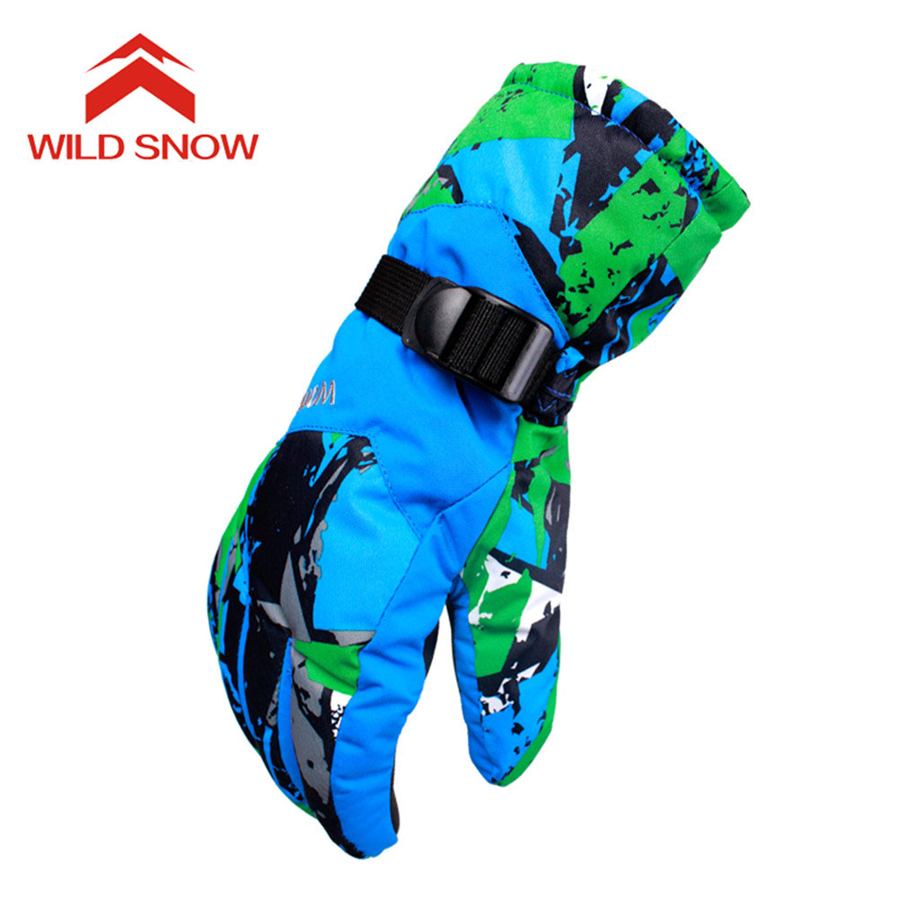 2017 WildSnow Men Skiing Gloves Snowboarding Waterproof Snowmobile Motorcycle Women Ski Gloves Windproof Warm Snow Gloves PYG824