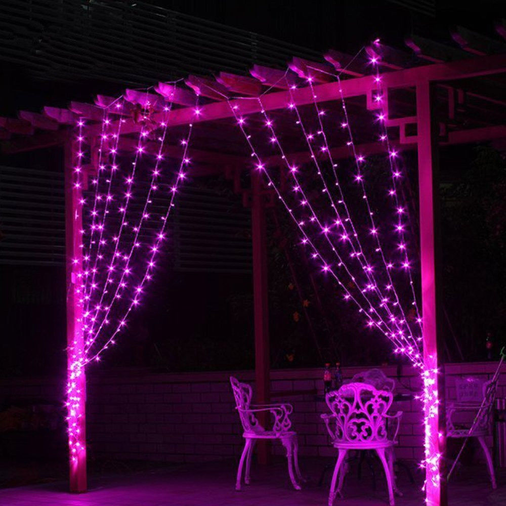 ФОТО 3M x 3M 300 LED New Year Christmas Garlands Curtain lights LED String Fairy Xmas Party Garden Wedding Decoration