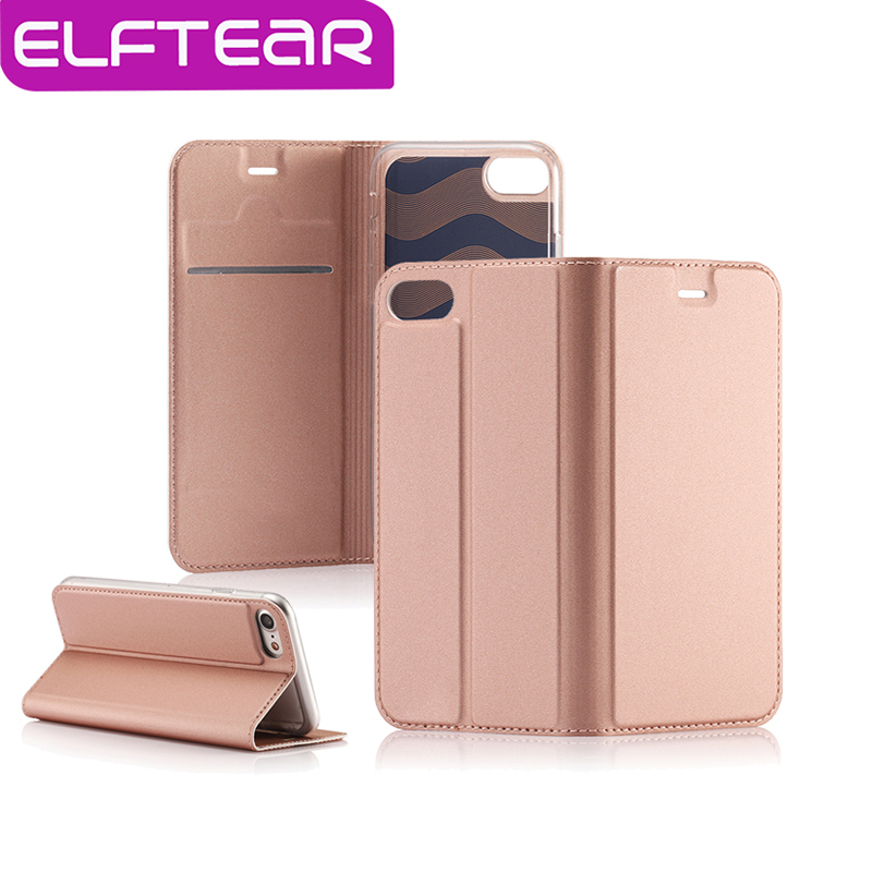 ELFTEAR Luxury Leather Case For iPhone 7 7 Plus Magnetic Flip Wallet Cover For Apple 6