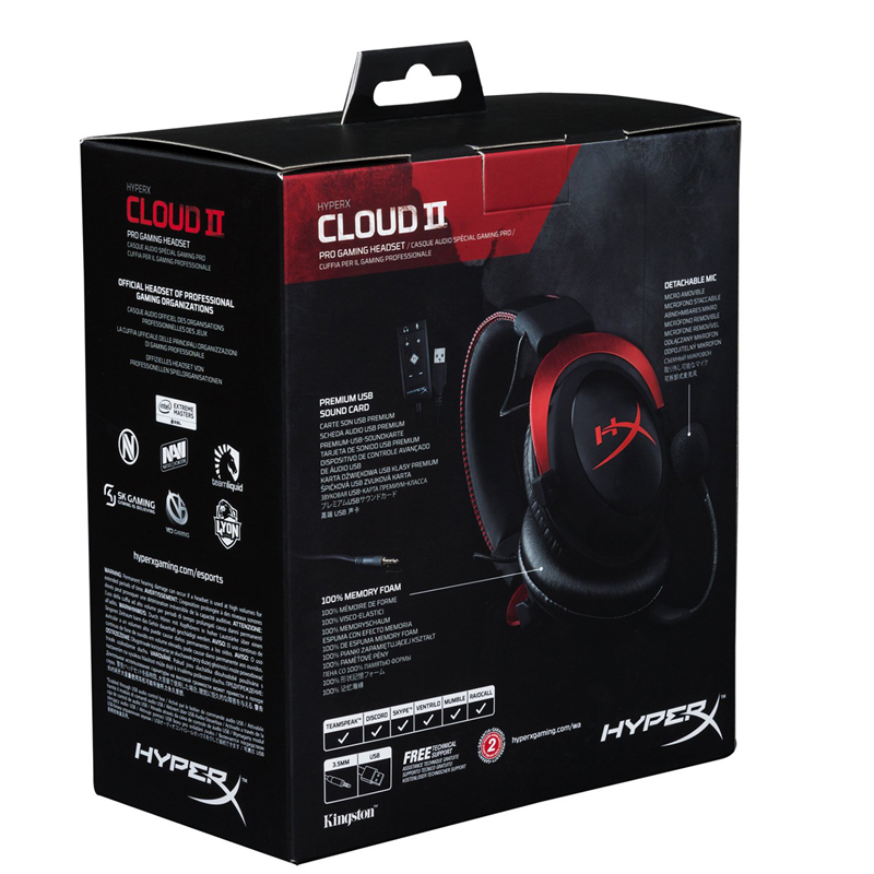 Image 5 - Kingston HyperX Cloud II Headset Hi Fi 7.1 Surround Sound Gaming Headphone with Microphone 3.5mm For Computer Cellphone Earphonegaming headphones with microphonegaming headphonesheadphones with microphone -