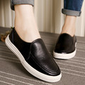 MUYANG New Fashion Loafers 2017 Genuine Leather Women Shoes Woman Casual Comfortable Flat Shoes Women Flats Black White Colors