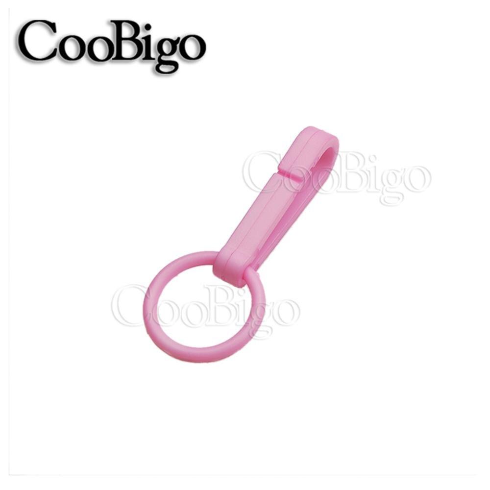 100 шт Упаковка Пластиковые Красочные защелки крюк перчатки пряжки-Крючки с уплотнительным кольцом звено цепи вешалка сумка Запчасти Аксессуары# FLC078(Mix-s - Цвет: BabyPink
