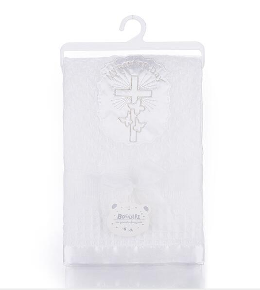 Gooulfi крестильное детское одеяло s Белый для крещения новорожденных обертывание одеяло мягкие детские акриловые Новорожденные Детская шаль одеяло для новорожденных - Цвет: 55998