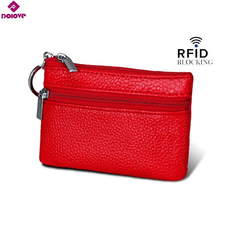DOLOVE Designer Brand Fashion Split Leather Women Wallets Mini Purse Lady Small Leather Wallet With Coin Pocket D-7508