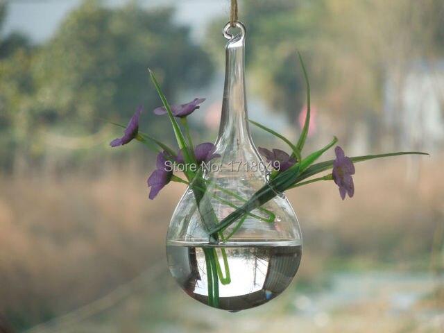 6pcsset Teardrop Glass Planterdrop Glass Terrariumshanging Water