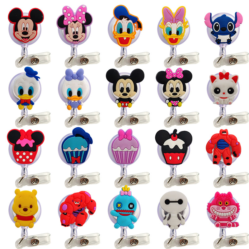 2019  Lovely  Cartoon  Child Student Nurse Retractable Reel Badge Holder Lovely Kids Reels