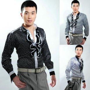 2017 Masculinos camisa del traje del paillette traje masculino vestido formal clothesThe cantante ropa S-3XL