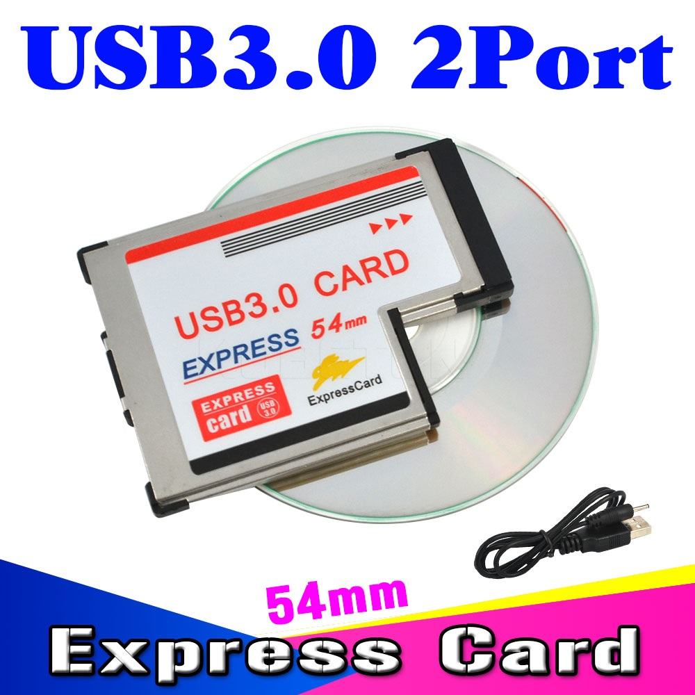 2017 Dual 2 Ports USB 3.0 PCI Express Card Adapter 5Gbps HUB PCI 54mm Slot ExpressCard PCMCIA Converter For Laptop Notebook