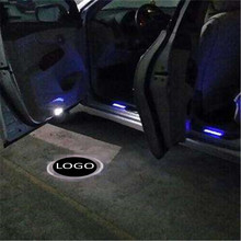 цена на JingXiangFeng 2 pcs 5W Case For VIP For Shelby Car Door Welcome Light Car LED Laser Logo Ghost Shadow Light Warning lights