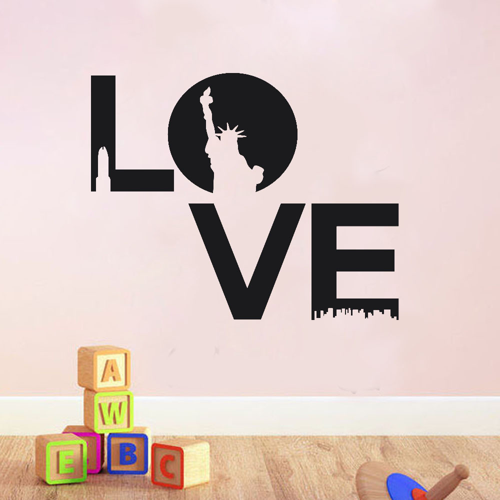 2017 hot sale 3034cm love home decor wall sticker decal bedroom vinyl art mural - Home Decor For Sale