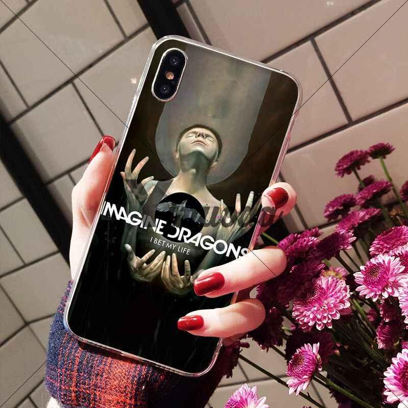 Yinuoda noche música imagine dragons patrón de música suave teléfono móvil funda para iPhone X XS MAX 6 6S 7 7plus 8 8Plus 5 5S XR