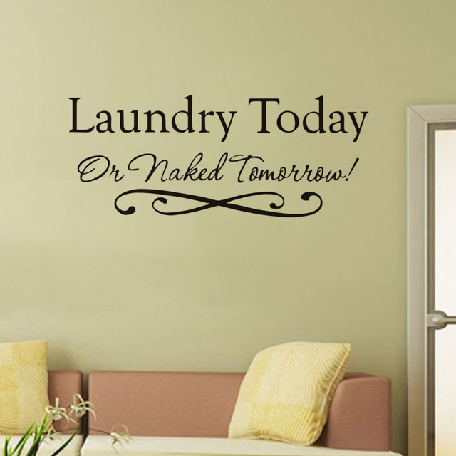 laundry today vinyl wall decal quotes home decor bathroom diy ...