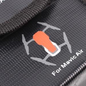 Image 4 - Voor DJI Mavic Air Brandwerende Lipo Batterij Zak explosieveilige Case Beschermende Opslag Kluis voor Mavic Air Accessoires