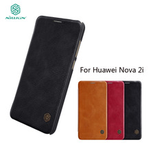 NILLKIN For Huawei Nova 2i /Mate 10 Lite Phone Case Leather Maimang 6 Flip Cover With Card Holder