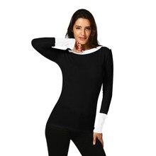 812509a6ebf Moda señoras Sexy cuello lucha Color suéteres befree manga larga Jersey  suéteres blusa Tops Jersey de invierno suéter de mujer