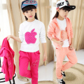 Suits  2016 new girls spring sports suit  red girl clothes  big virgin 10-11-12 age kids three piece&children  teenage girl set