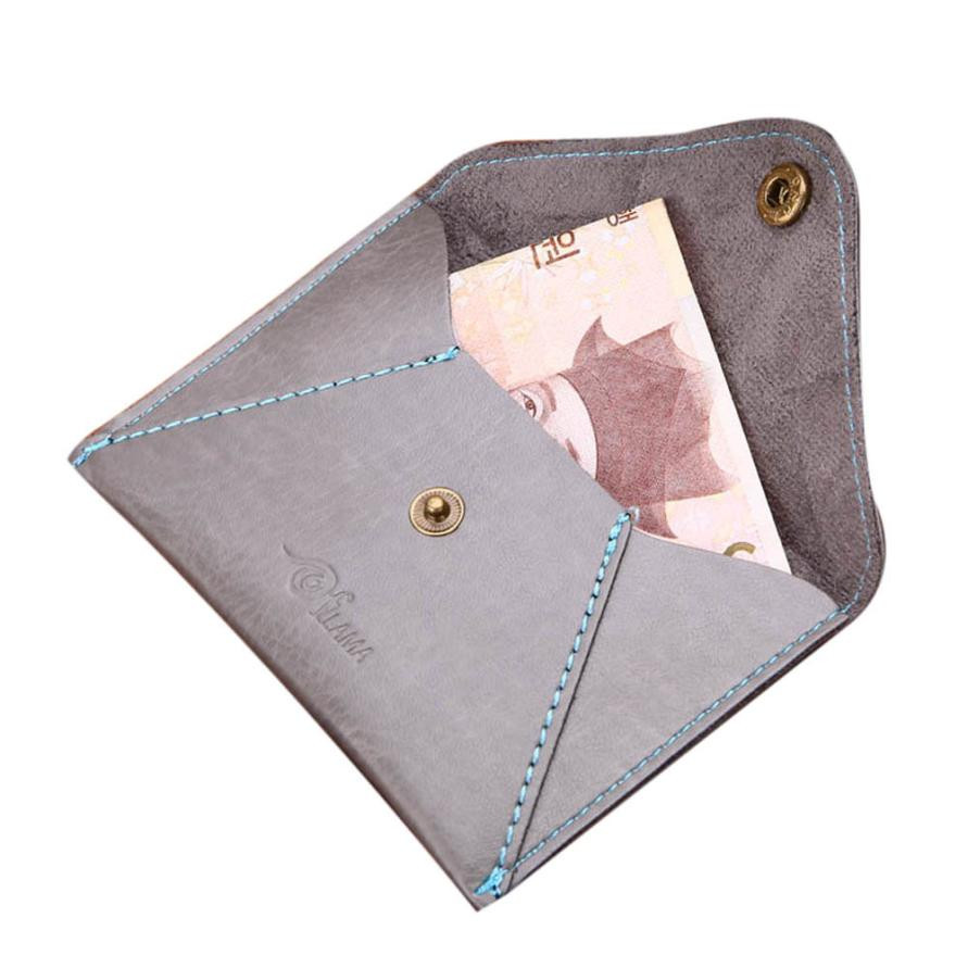 Men Leather Card Cash Receipt Holder Organizer Bifold Button Wallet Purse Male Purse Quality Zipper Large Capacity Big Brand