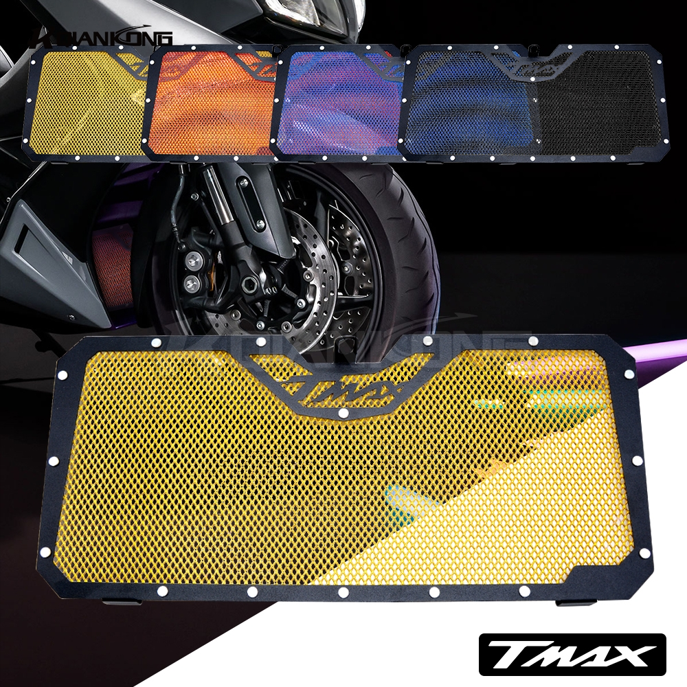 R QIANKONG For YAMAHA TMAX530 2012-2016 tmax 530 2017 NEW Arrivals Moto Stainless Steel R Radiator Grille Guard Cover Protector new motorcycle stainless steel radiator grille guard protection for yamaha tmax530 2012 2016