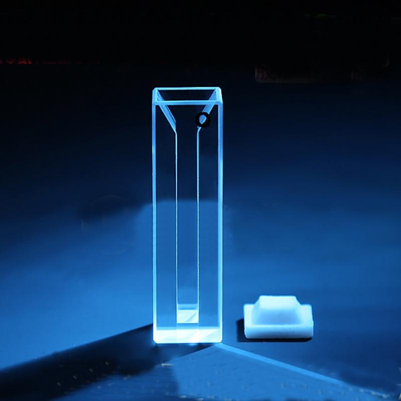 1400ul 10mm Path Length Micro JGS1 Quartz Cuvette With Telfon Lid
