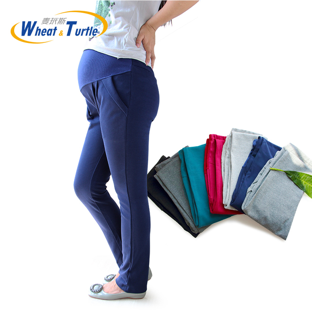 2016 Hot Sale New Arrival Good Quality Cotton Maternity Pants All Match All Season Comfortable Maternity Casual Harlan Pants