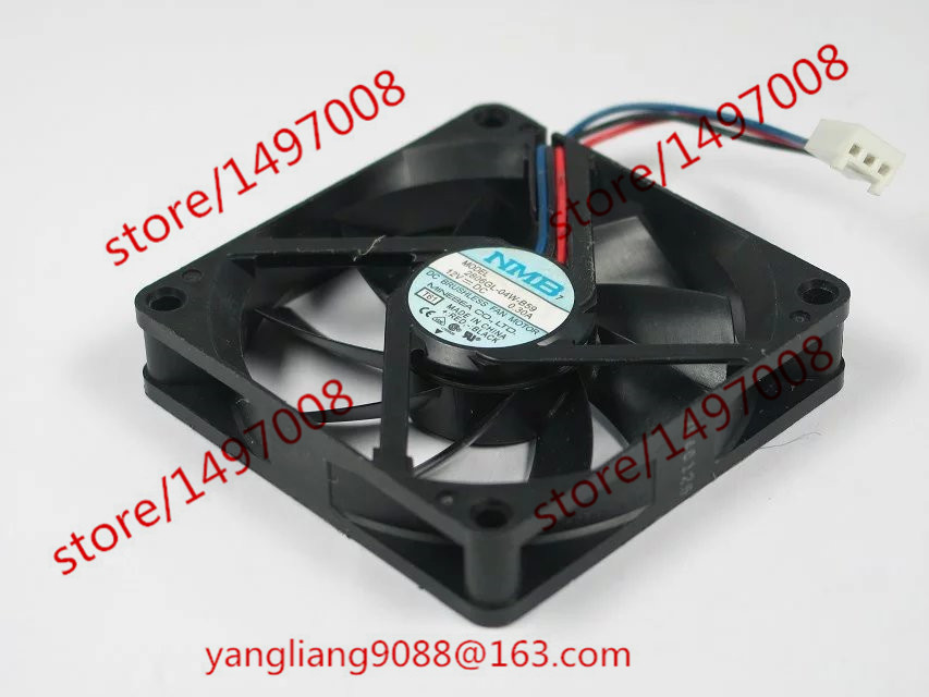 NMB-MAT 2806GL-04W-B59, T61 DC 12V 0.30A     70x70x15mm Server Square  Fan nmb mat 3110kl 04w b49 b02 b01 dc 12v 0 26a 3 wire server square fan