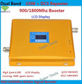 Display LCD!!! GSM 900 Mhz DCS 1800 MHz Sinal de Reforço Dual Band, GSM DCS Celular Repetidor de Sinal + Adaptador de Energia