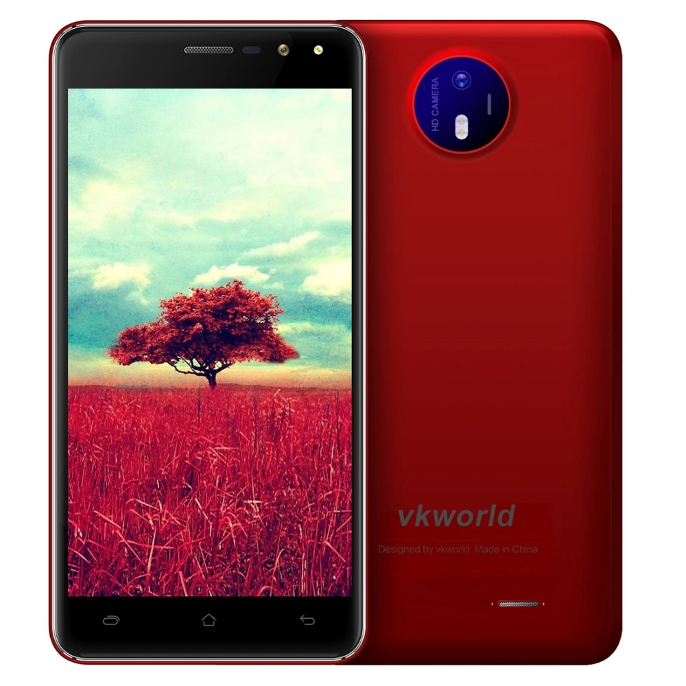VKworld F2 Smartphone 3G 5.0 inch Android 6.0 MT6580A Quad Core Mobile Phone 1.3GHz Dual SIM 2GB RAM 16GB ROM Cell Phone OTA FM