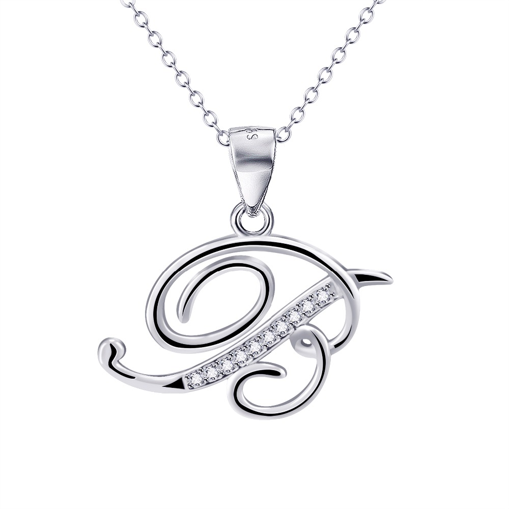 Online get cheap zirconia necklace minimalist aliexpress yfn 925 sterling silver personalized charm letter b pendant necklace initial tiny delicate minimalist necklace unisex mozeypictures Image collections
