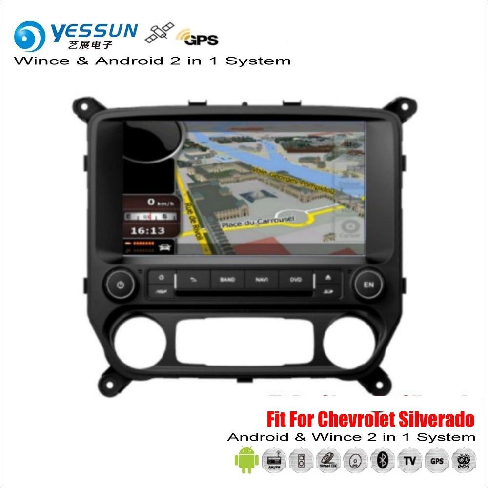 YESSUN Pour Chevrolet Silverado 2014 ~ 2017-Voiture Androïde Radio Multimédia Lecteur CD DVD GPS Navi Navigation Audio Vidéo HD Stéréo
