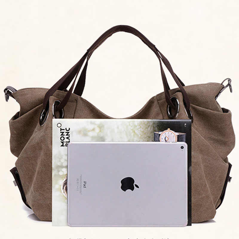 e2b2bd4f428d ... KVKY новая популярная осенне-зимняя парусиновая женская сумка, большие  сумки на плечо, сумка ...