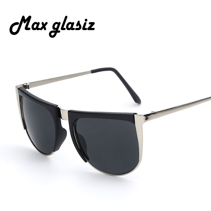 2016 half rimless metal frame men sunglasses gradient shade lenses uv400 cheap sunglass eyewear glasses brand