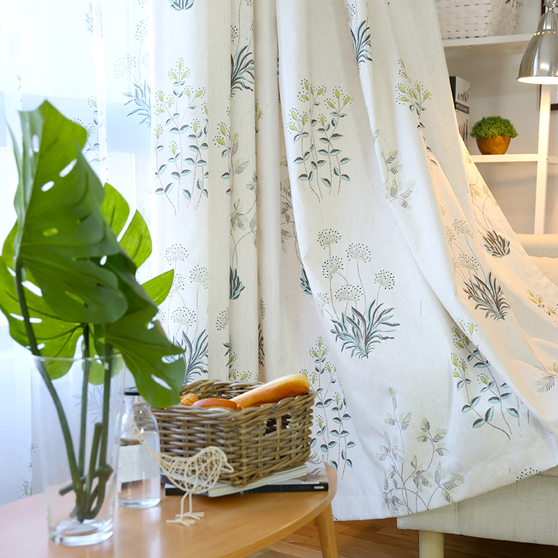 2019 New Curtains For Rural Small Fresh Finished Curtain Cloth Living Room Bedroom Shade