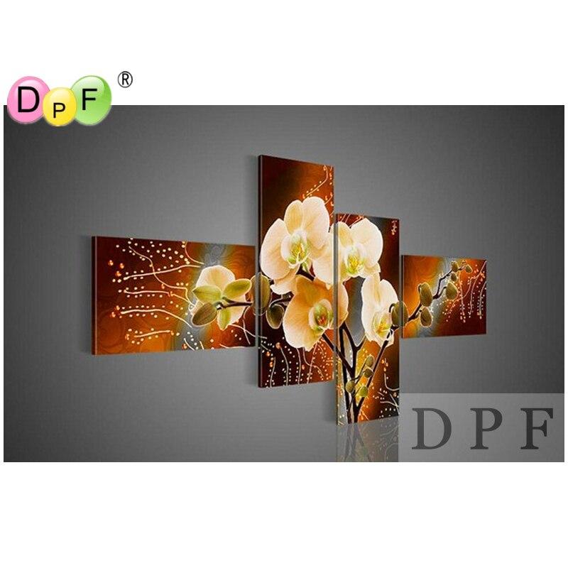 3D White flower Diy diamond embroidery painting square rhinestone Cross Stitch triptych home decor Kits diamond