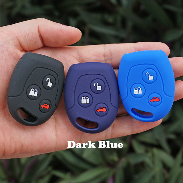 Silicone Car Key Fob Case Cover Shell Cap Protected Accessories Fit For Ford Mondeo Fiesta Focus