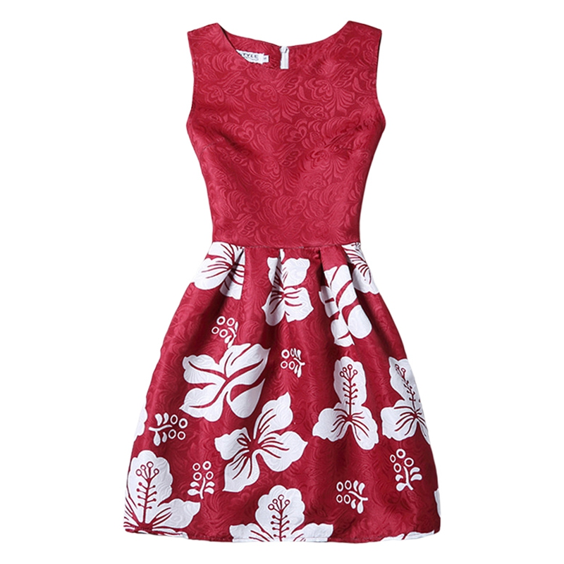 Flower Girls Dress 2016 New Causal Sleeveless Floral Print ...