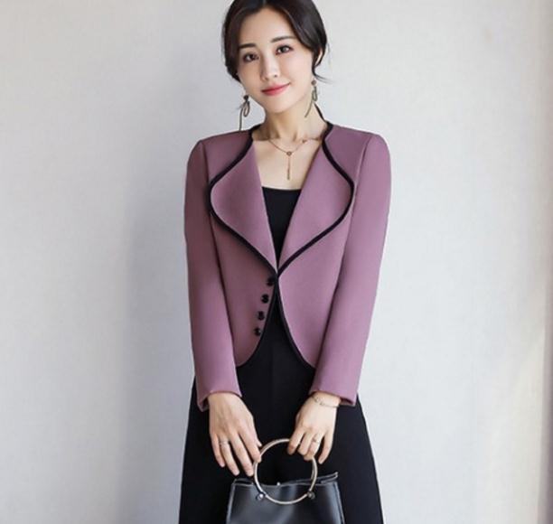 Envoyer Western 2018 Mode Nouveau rouge De Court Lavande Printemps Livraison Manteau Vêtements Femme Style style corail Rouge dWp8Tq