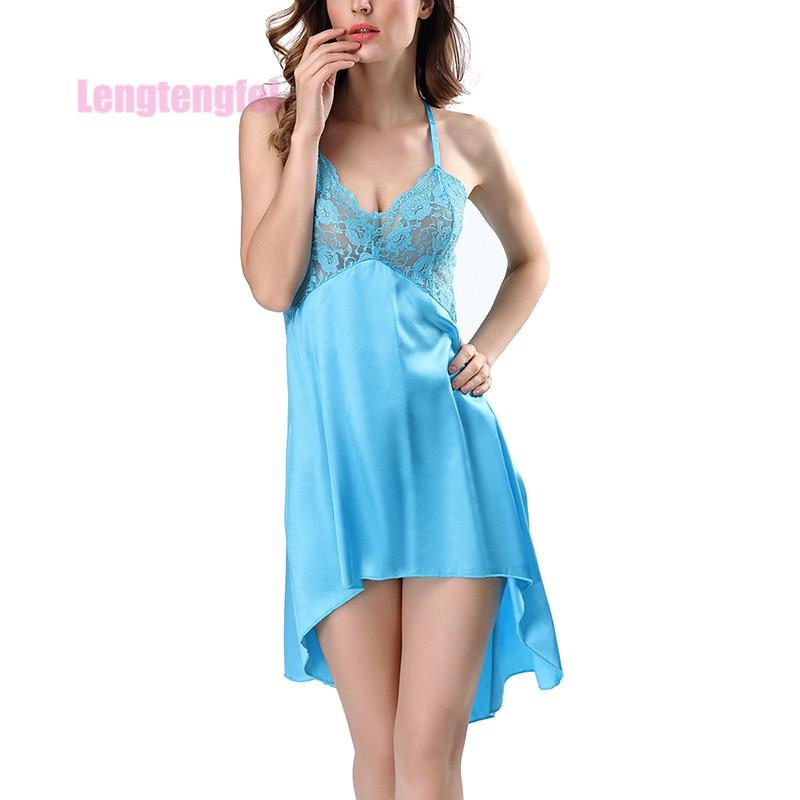 Sexy Sleepwear Womens Nightdress Silk Robe Dress Babydoll Lingerie Nightgown Robes Sleepshirt Lingerie