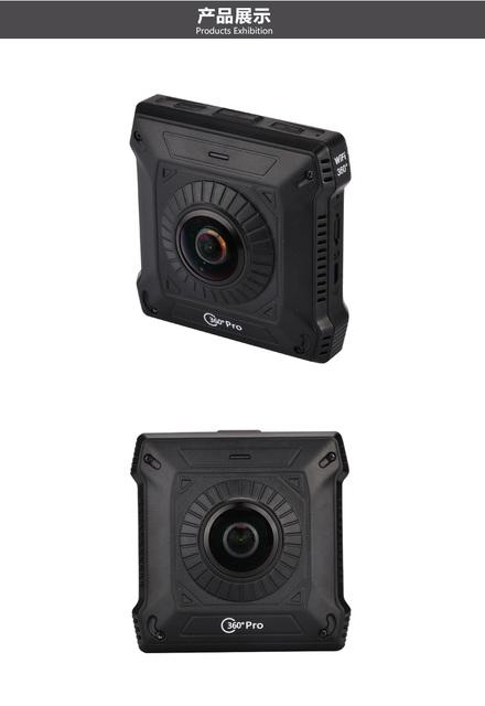 220 Graus Lente Grande Angular de 360 Graus Da Câmera Dupla WI-FI 1280*1024*2 Formato de Vídeo H264 Formato TS 360 VR Câmera 28fps Camcorder