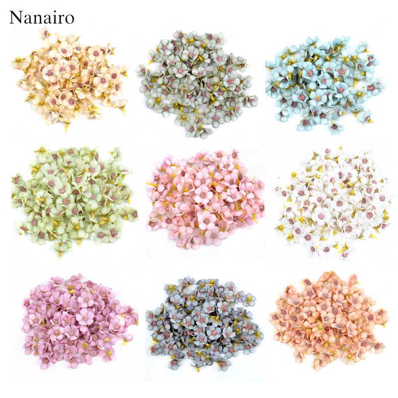 50 pçs 2cm multicolorido mini seda artificial daisy flor cabeça para coroa de casamento guirlanda decoração artesanal diy scrapbooking artesanato