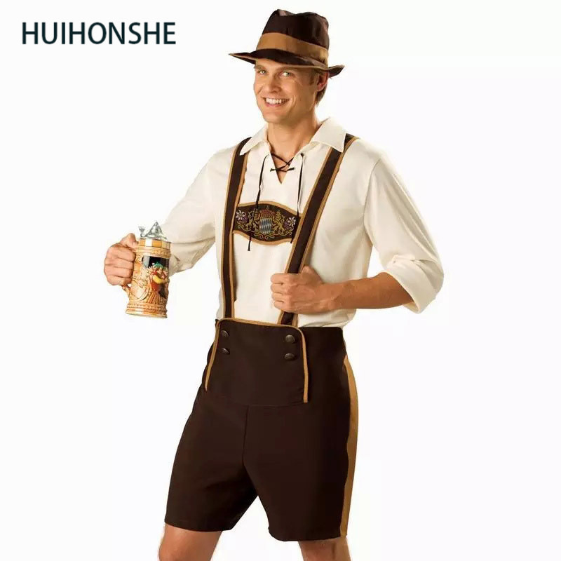Size M-2XL Men's Oktoberfest Costumes Traditional German Bavarian Beer Male Cosplay Halloween Octoberfest Festival Party Clothes