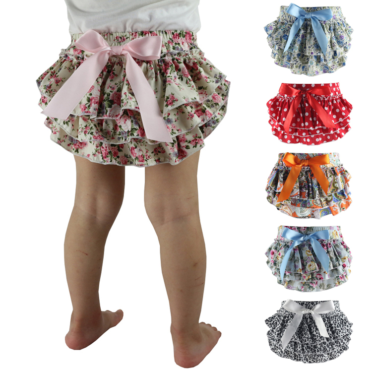 Baby Shorts Newborn Bloomers Baby Girl Skirt Diaper Cover Ruffle Bloomer Diaper Cover Cotton Ruffle Cotton Bloomer Diaper Cover ruffle hem solid shorts