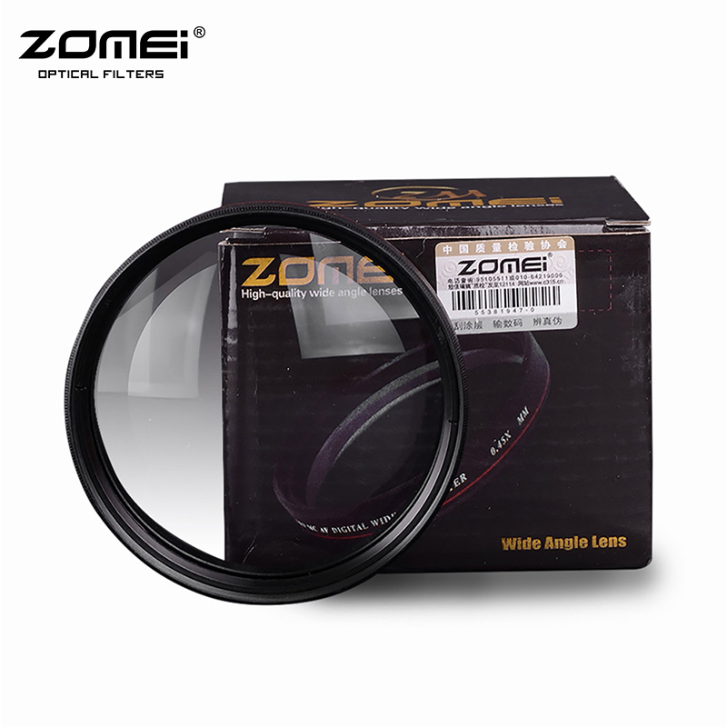 ZOMEI Ultra Slim 40.5 49 52 55 58 62 67 72 77mm 0.45 x Wide Angle Filter Lens Corner For for Nikon Canon SLR Camera DSLR Lens брюки каррот из льна и вискозы