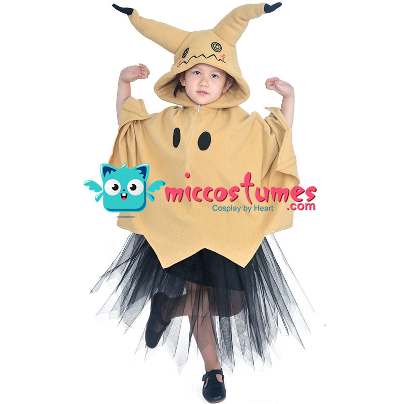 Child Pikachu Mimikyu Halloween Cloak Dress Costume for Kids