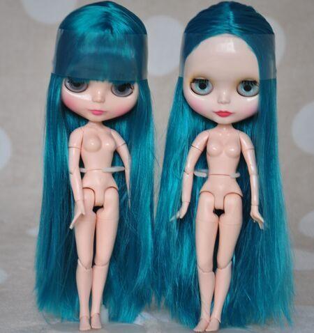 Блит куклы, с изумрудом синие волосы, длинные волосы, DA16