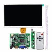 9 Inch Đối Với Raspberry Pi 3 Màn Hình Hiển Thị LCD Ma Trận TFT Monitor AT090TN12 với HDMI VGA AV Đầu Vào Bảng Điều Khiển điều khiển