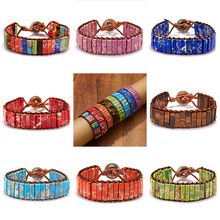 Belleper Chakra Bracelet Jewelry Handmade Multicolor Natural Stone Beads Braided Rope Couples Bracelets Creative Gifts