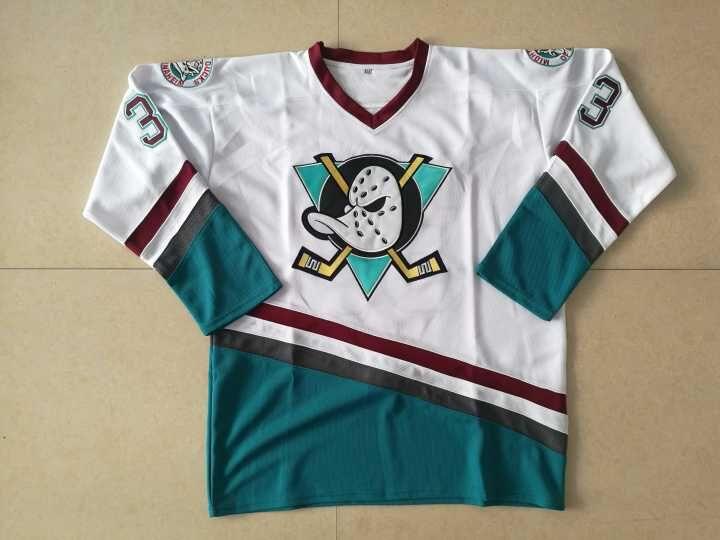 a9e26dd19 Stitched Greg Goldberg #33 Hockey Jersey 96 Charlie Conway Mighty Ducks  Movie Jersey Green White Sewn Size S-3XL Viva Villa